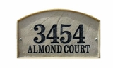Crushed Stone Address Plaques