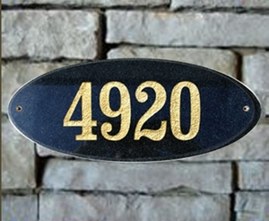Granite and Stone Oval Plaques