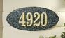 Rockport Oval Solid Granite Address Plaque With Engraved Text - Emerald Green
