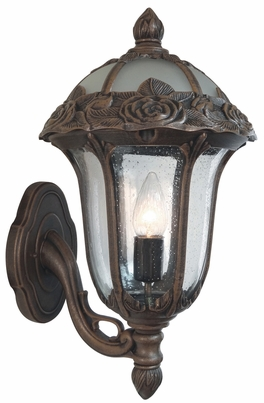 Rose Garden Small Bottom Mount Wall Bracket Lighting Fixture