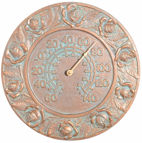 Whitehall Rose Thermometer - Copper Verdi