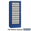 Salsbury 3100BLP Rotary Mail Center - Aluminum Style - Blue - Private Access
