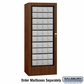 Salsbury 3100WAP Rotary Mail Center - Aluminum Style - Walnut - Private Access