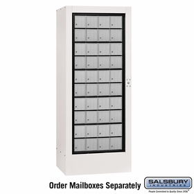Salsbury 3100WHU Rotary Mail Center Aluminum Style White (Mailboxes Sold Separately)