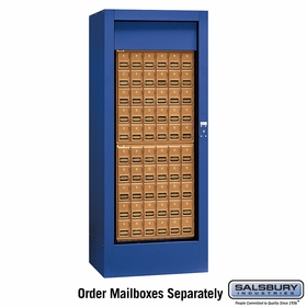 Salsbury 3150BLU Rotary Mail Center Brass Style Blue (Mailboxes Sold Separately)
