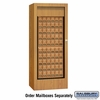 Salsbury 3150OKU Rotary Mail Center Brass Style Oak (Mailboxes Sold Separately)