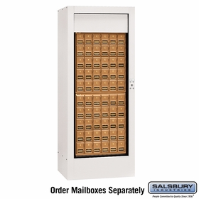 Salsbury 3150WHP Rotary Mail Center - Brass Style - White - Private Access