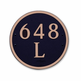 Dekorra Products 648 Round and Oval Address Plaques