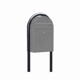 USPS Bobi Structured Black Round Mailbox Post (exclusively matches Black Grande Box)
