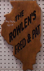 "Routered State Sign 11"" x 20"""