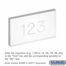 Salsbury 2068CLR Clear Plastic Window Engraving for Brass Door