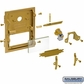 Salsbury 2068TAN Custom Window Engraving - on Tan Plastic Window - for Brass Mailbox Door