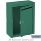 Salsbury 2240GU Standard Letter Box - Surface Mounted Green USPS Access