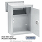 Salsbury 2256ALM Receptacle - Option for Mail Drop - Aluminum
