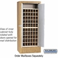 Salsbury 3150OKP Rotary Mail Center - Brass Style - Oak - Private Access
