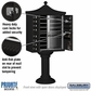 Salsbury 3312R-BLK-P 12 Door Regency Decorative Cluster Mailbox Black - Private Access