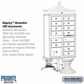 Salsbury 3313WHT-P 13 Door Cluster Mailbox White - Private Access