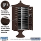 Salsbury 3316R-BRZ-P 16 Door Regency Decorative Cluster Mailbox Bronze - Private Access