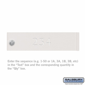Salsbury 3368WHT CBU & Parcel Locker(s) Door Engraving Regular