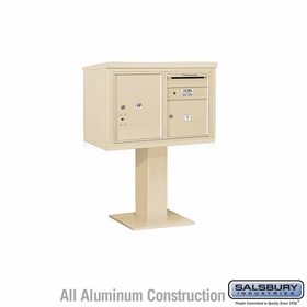 4C Pedestal Mailboxes with Parcel Lockers - 1 to 2 Doors