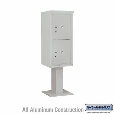 Salsbury 3410S-2PGRY 4C Pedestal Mailboxes 2 Parcel Lockers