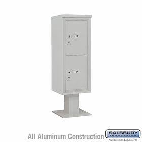 Salsbury 3412S-2PGRY 4C Pedestal Mailboxes 2 Parcel Lockers