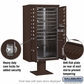 Salsbury 3415D-16BRZ 16 Door 4C Pedestal Mailbox with Parcel Locker - Bronze