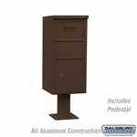 Salsbury 3450BRZ Regular Pedestal Collection Box