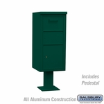 Salsbury 3450GRN Regular Pedestal Collection Box
