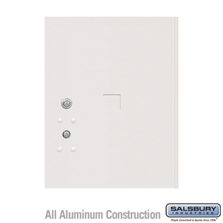 Salsbury 3455WHT 4C Pedestal Mailboxes Replacement Door