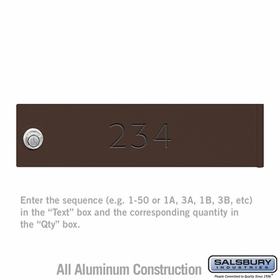 Salsbury 3474BRZ Bronze 4C Mailbox Locker Door Engraving Filled