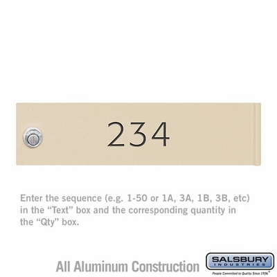 Salsbury 3474SAN Sandstone 4C Mailbox Locker Door Engraving Filled