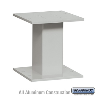 Salsbury 3485GRY 4C Pedestal Mailboxes Replacement Pedestal