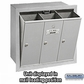 Salsbury 3503ARP Vertical Mailbox - 3 Doors - Aluminum - Recessed Mounted - Private Access