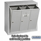 Salsbury 3503ASP Vertical Mailbox - 3 Doors - Aluminum - Surface Mounted - Private Access