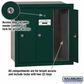 Salsbury 3503GRP Vertical Mailbox - 3 Doors - Green - Recessed Mounted - Private Access