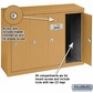 Salsbury 3504BSP Vertical Mailbox - 4 Doors - Brass - Surface Mounted - Private Access