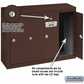 Salsbury 3504ZSU 4 Door Vertical Mailbox Bronze Finish Surface Mounted USPS Access