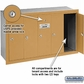 Salsbury 3505BRU 5 Door Vertical Mailbox Brass Finish Recessed Mounted USPS Access