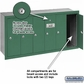 Salsbury 3506GRP 6 Door Vertical Mailbox Green Recessed Mounted Private Access