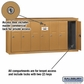 Salsbury 3507BSP Vertical Mailbox - 7 Doors - Brass - Surface Mounted - Private Access