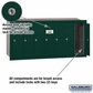 Salsbury 3507GRP 7 Door Vertical Mailbox Green Recessed Mounted Private Access