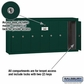 Salsbury 3507GSP 7 Door Vertical Mailbox Green Surface Mounted Private Access