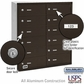 Salsbury 3612ZRU 4B Mailboxes 12 Tenant Doors Rear Loading - USPS Access