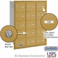Salsbury 3615GRU 4B Mailboxes 15 Tenant Doors Rear Loading - USPS Access