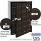 Salsbury 3618ZFU 4B Mailboxes 17 Tenant Doors Front Loading - USPS Access