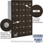 Salsbury 3618ZRP 4B Mailboxes 18 Tenant Doors Rear Loading - Private Access