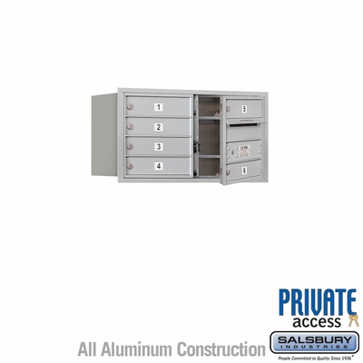 Salsbury 3704D-06AFP 4C Mailboxes 6 Tenant Doors Front Loading