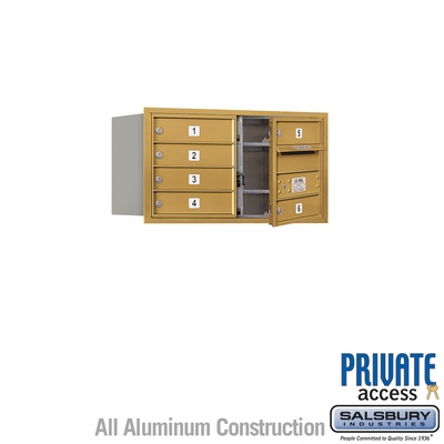 Salsbury 3704D-06GFP 4C Mailboxes 6 Tenant Doors Front Loading