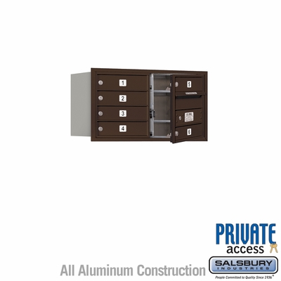 Salsbury 3704D-06ZFP 4C Mailboxes 6 Tenant Doors Front Loading